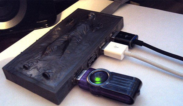 han solo carbonite usb Han Solo Carbonite USB Hub Won't Freeze Your Connected Gadgets