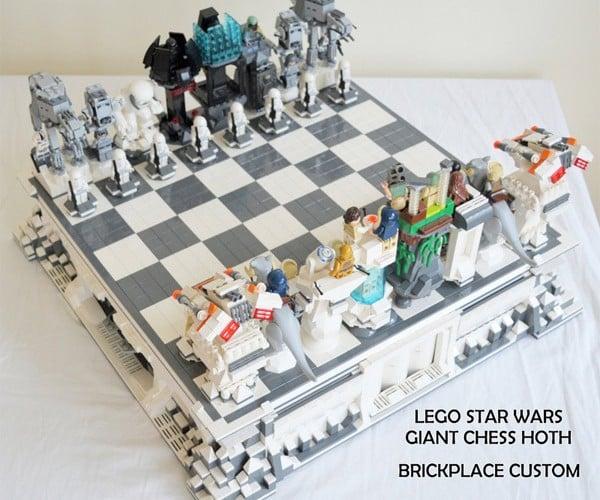 Custom Star Wars LEGO Hoth Chess Set: Rogue Leader, Check!