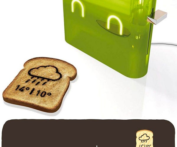 Jamy Toaster Prints the Forecast on Your Breakfast Bread