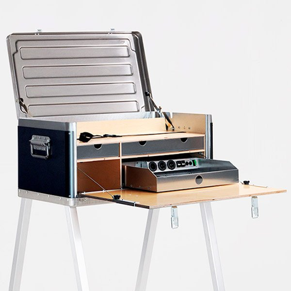 kanz power desk remote satellite field internet portable workstation