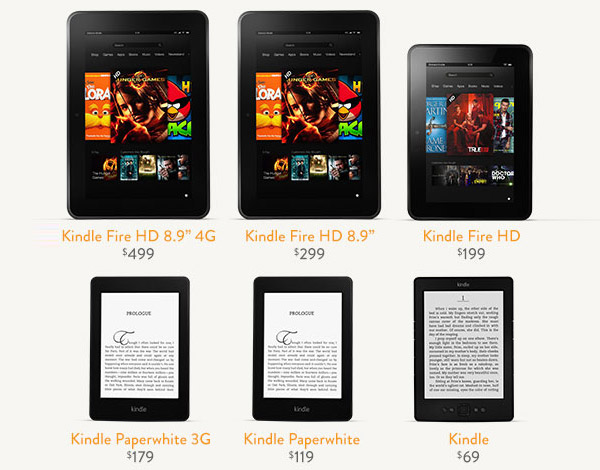 kindle fire paperwhite prices