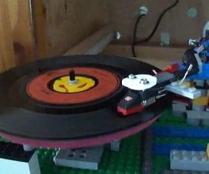 LEGO Record Player Makes Vinyl Sound Like the Devil's Music
