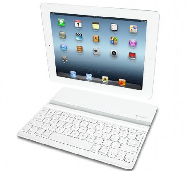 logitech ultrathin keyboard cover white dock