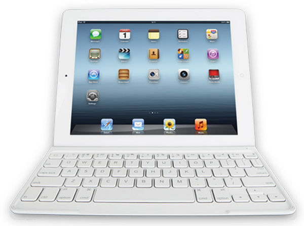 logitech ultrathin keyboard cover white