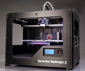 MakerBot Replicator 2 Desktop 3D Printer Prints Just About Anything