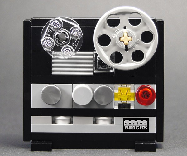 Mini Lego Reel-to-Reel Tape Deck: You're Going to Need Some Really Tiny Tape