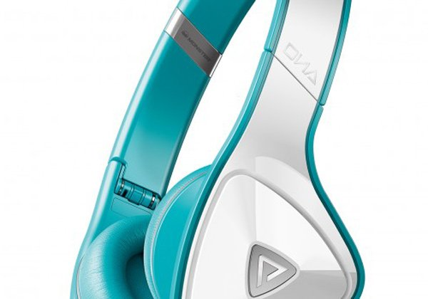monster dna headphones teal side