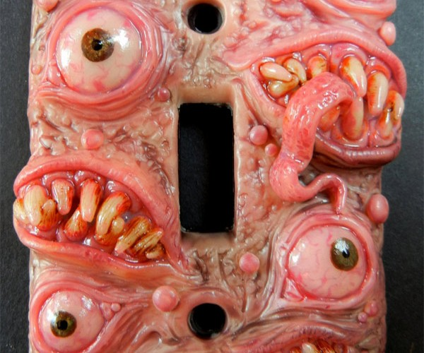 Monster Light Switch Plates Are No Less Scary with the Lights on