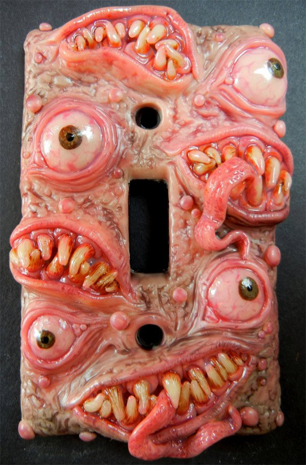 monster lightswitch plate