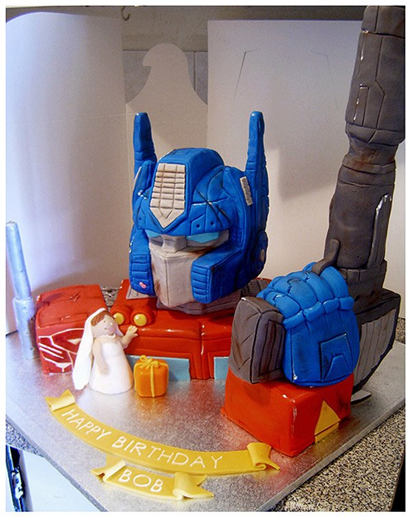 How To Make Optimus Prime Cake