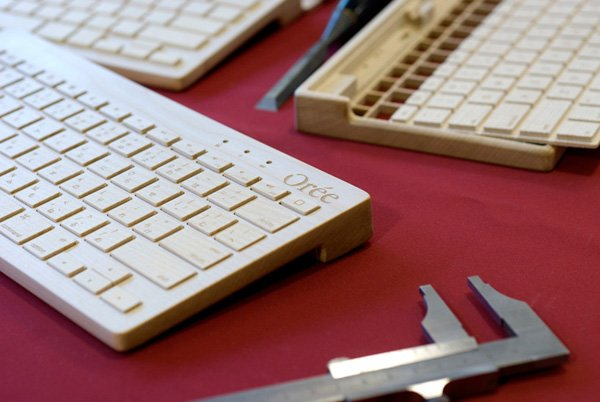 oree bluetooth keyboard board wood mobile