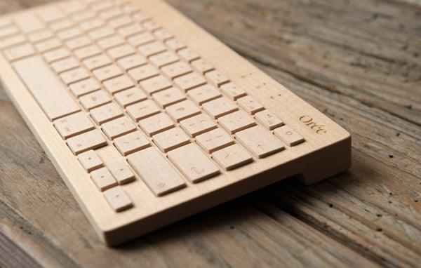 oree bluetooth keyboard board wood mobile