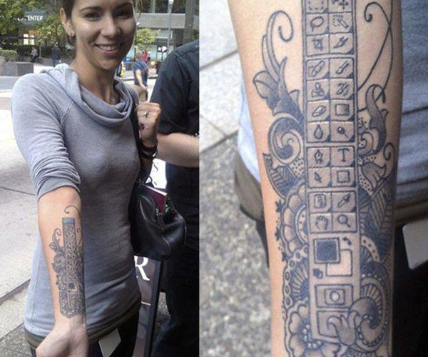 Girl Likes Photoshop a Little Too Much, Gets It Tattooed on Her Arm