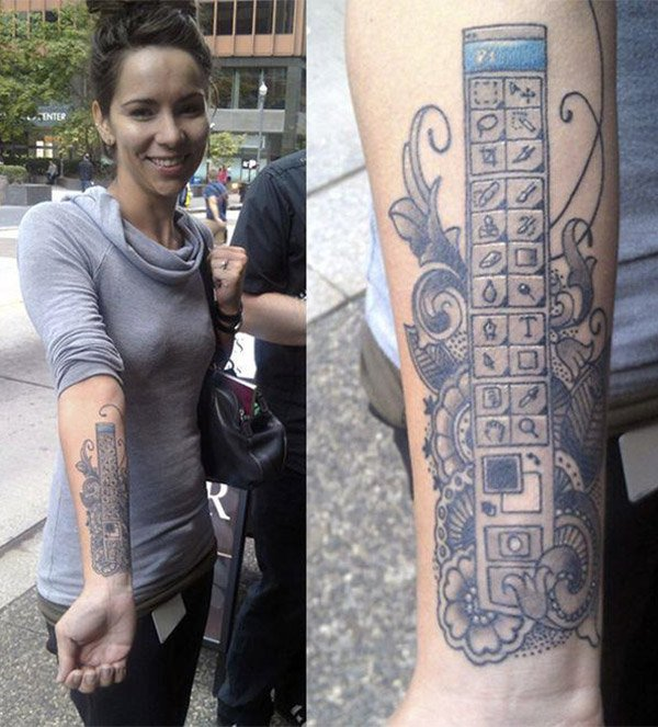 photoshop arm tattoo