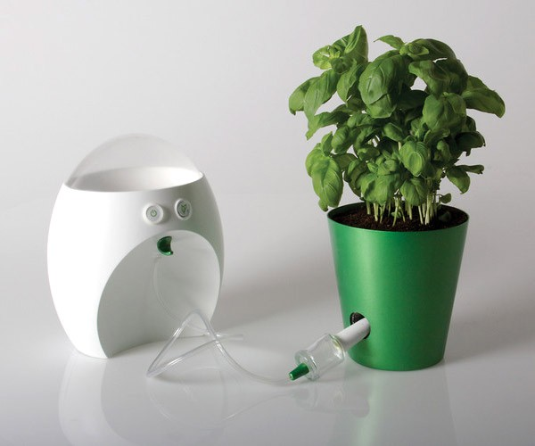 This Gadget Eats Your Leftovers to Feed Your Plants, Everybody Wins