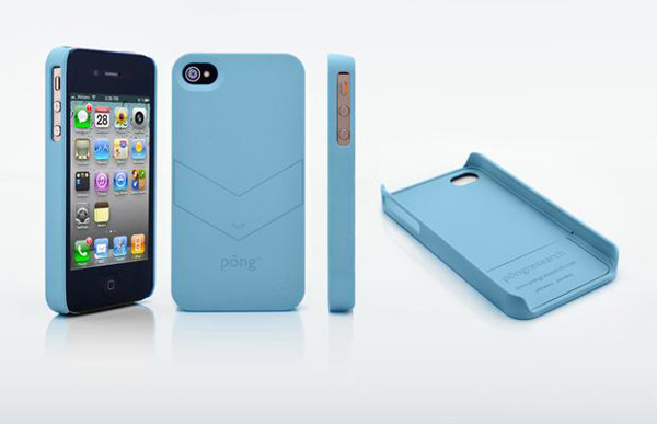 pong soft touch iphone radiation case blue