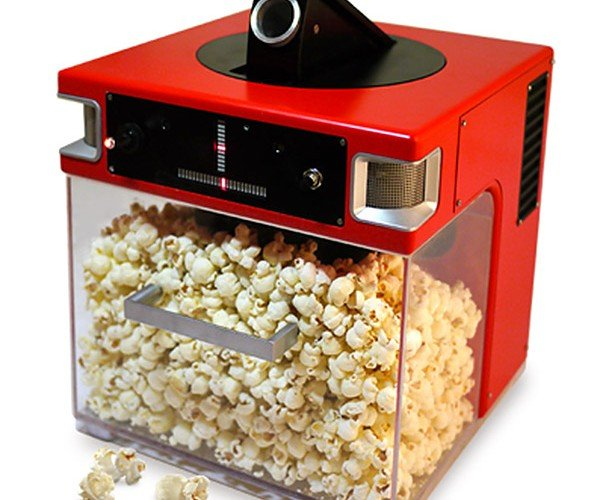 The Popinator Shoots Popcorn Directly at Your Mouth, One Kernel at a Time