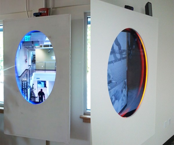 Portal Webcam: Now You're Teleconferencing with Science
