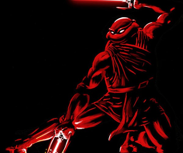 Teenage Mutant Ninja Turtles Drawn as Jedi Knights: Magical Mashup Fun