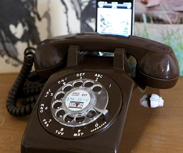 Rotary-Dial iPhone Dock is Now Doubly Obsolete