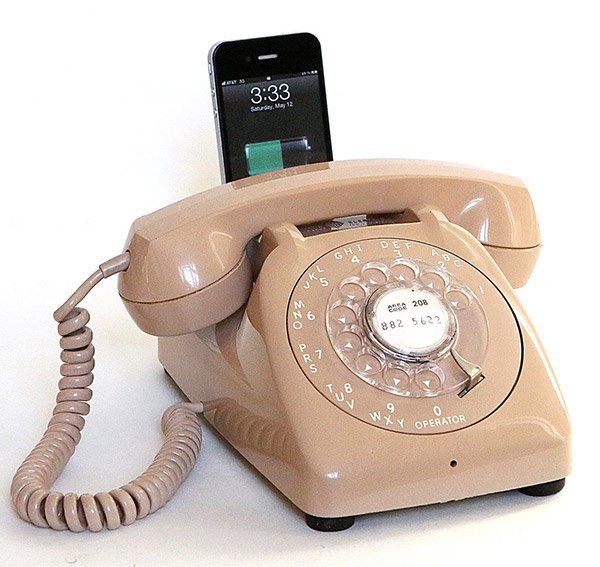 rotary dial iphone dock 2