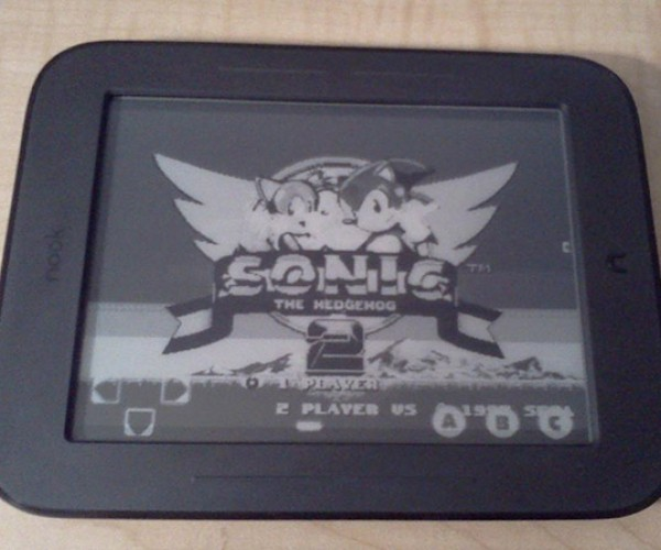 Sega Genesis Emulator Runs on Nook Simple Touch: Sonic the Black and White Hedgehog