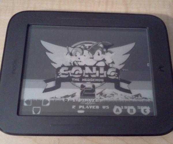Sega Genesis Emulator Runs on Nook Simple Touch: Sonic the Black and White Hedgehog