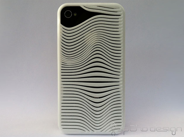 shapeways spaho design iphone 3d ripple case sleeve