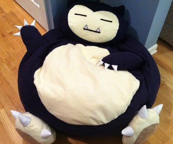 You'll Be Snoring on this Pokémon Snorlax Bean Bag