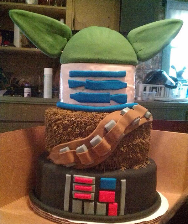 star wars mashup cake