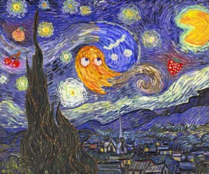 The Starry Night at the Arcade: Pac Man Meets van Gogh