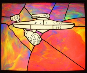 Stained Glass Starship Enterprise: Glass, The Final Frontier