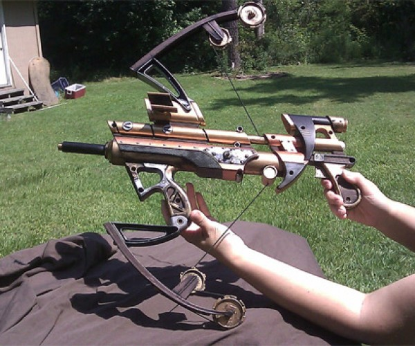 Hydraulic Steampunk Crossbow Not Actually Hydraulic, Still Awesome