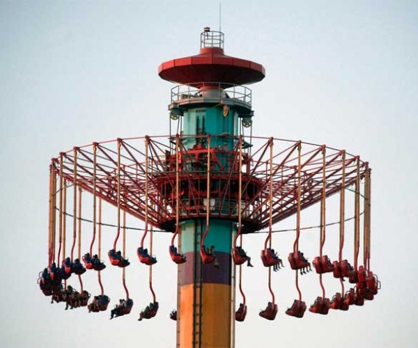 Amusement Park Riders Get Stuck 300 Feet in the Air