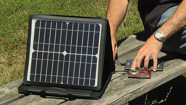 Sunvolt Portable Solar Power Station Charges Gadgets At