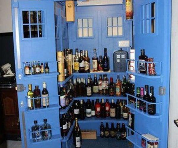 TARDIS Liquor Cabinet: Jigger on the Inside