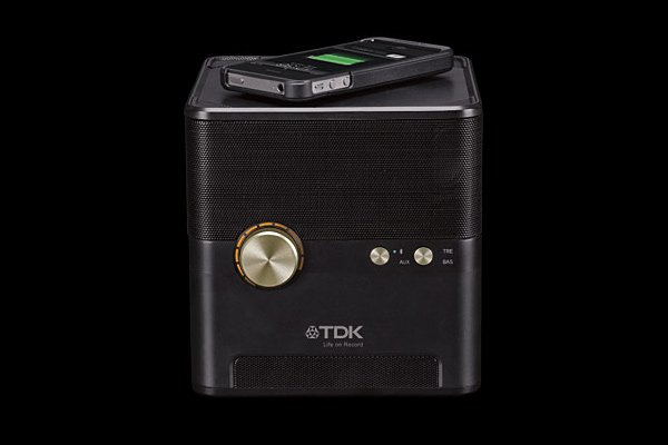 tdk charging speaker qi-compatible wireless bluetooth