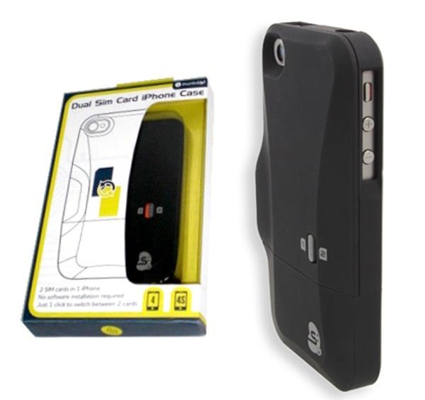 thumbsup dual sim card case iphone 4 4s sleeve