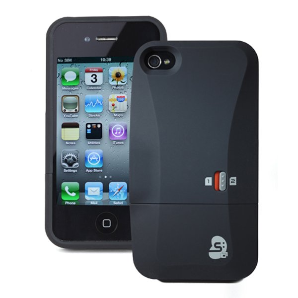 thumbsup dual sim card case iphone 4 4s sleeve