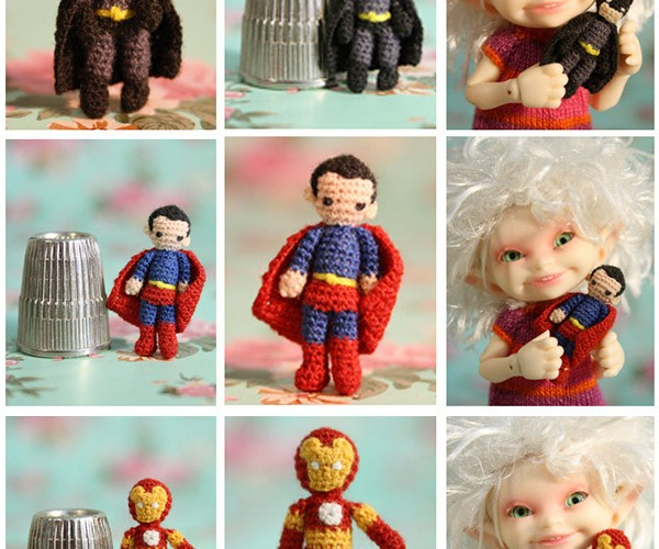Tiny Knit Superheroes Hit Etsy So Your Dolls Can Pretend to Be Villains
