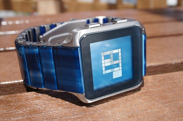tokyoflash kisai logo watch blue