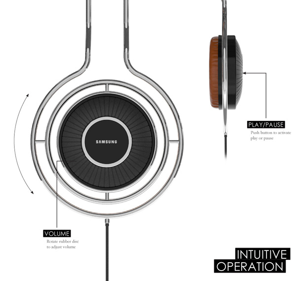 volve headphones over ear controls music