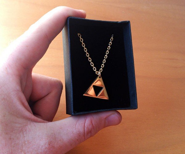 zelda triforce gold plated necklace 5
