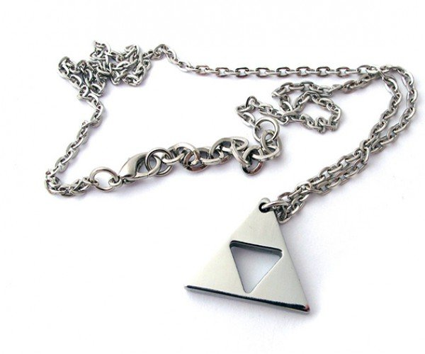 zelda triforce gold plated necklace 6