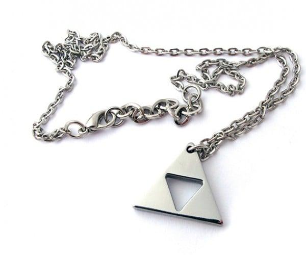 zelda triforce gold plated necklace 6