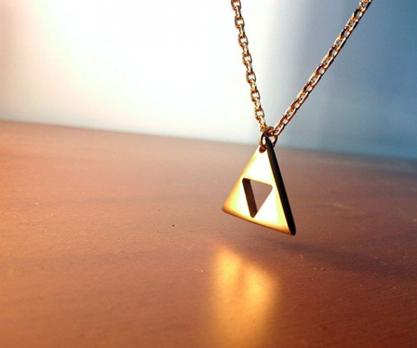 Zelda Triforce Necklace: Gold Pendant of Courage (and Power and Wisdom)