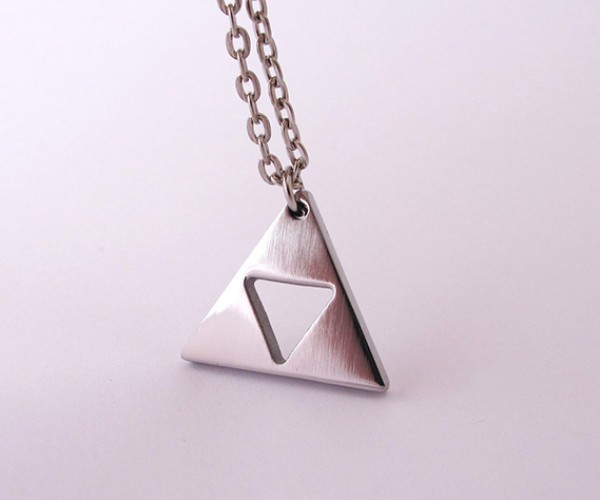 zelda triforce gold plated necklace 7