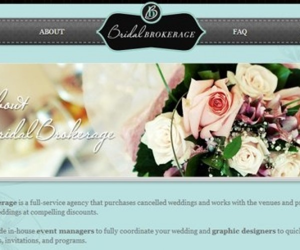 "Bridal Brokerage Recycles Weddings So Someone Else Can Buy Your ""Special"" Day"