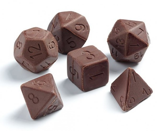 Chocolate Gaming Dice Set Scores a Critical Hit on Your Taste Buds