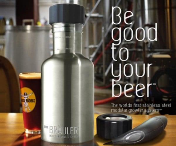Bräuler Modular Growler System Keeps Your Beer from Going Flat